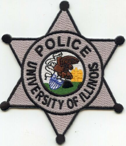 UNIVERSITY OF ILLINOIS IL star shaped POLICE PATCH