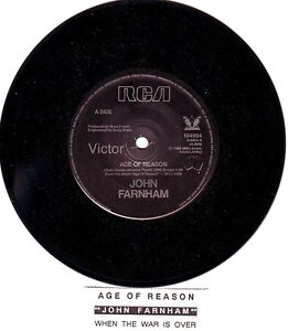 JOHN-FARNHAM-Age-Of-Reason-When-The-War-7-45-rpm-vinyl-record-juke-strip