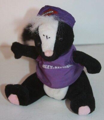 "Harley Davidson Beanie Baby Skunk Toy Stuffed Animal 7"" Riding Buddy for sale  Aztec"