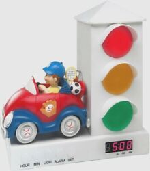 BOYS  Alarm Clock for Kids, Red and Blue Sports Car & traffic light ( READ BELOW