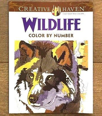 Color By Number Adults (ADULT COLORING BOOK WILDLIFE COLOR BY NUMBER CREATIVE HAVEN)