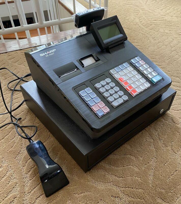 Sharp XE-A507 Bar Code Scanning & Dual Receipt Cash Register XEA507