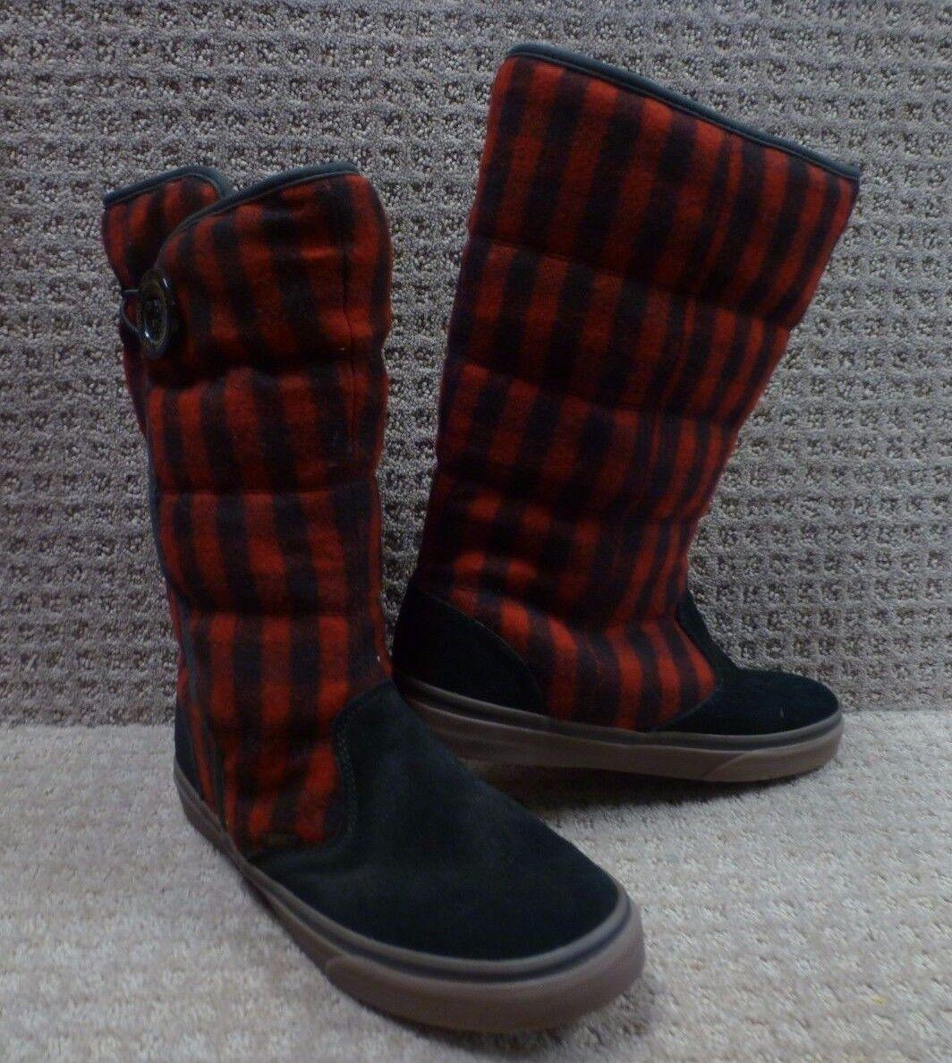 """Vans Shoes Men's Boots """"Phoebe"""" --  Black/Red"""