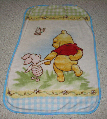 WINNIE THE POOH BABY LUXURY PLUSH THROW BLANKET PIGLET BEE BUTTERFLY Baby Luxury Plush Throw