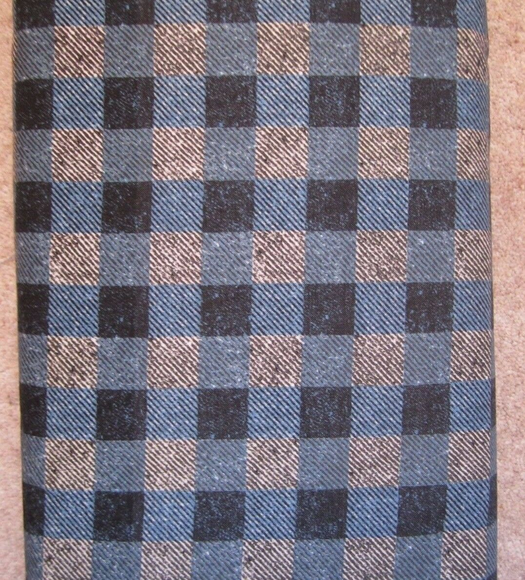 Checks in grey and blue 100% cotton 'Menswear' from Penny Rose Fabrics
