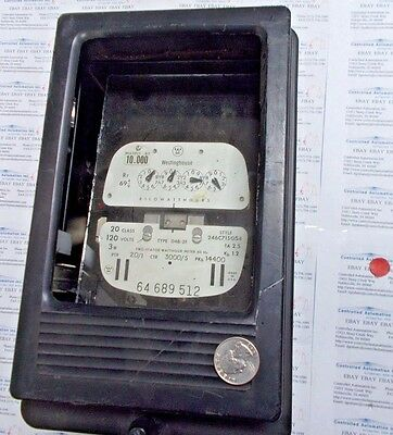 Westinghouse D4b-2f Two-stator Watthour Meter 60 Hz