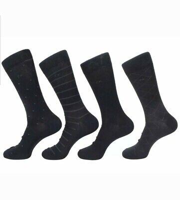 Calvin Klein Socks Men's 4-Pairs Classic Pattern Dress Crew