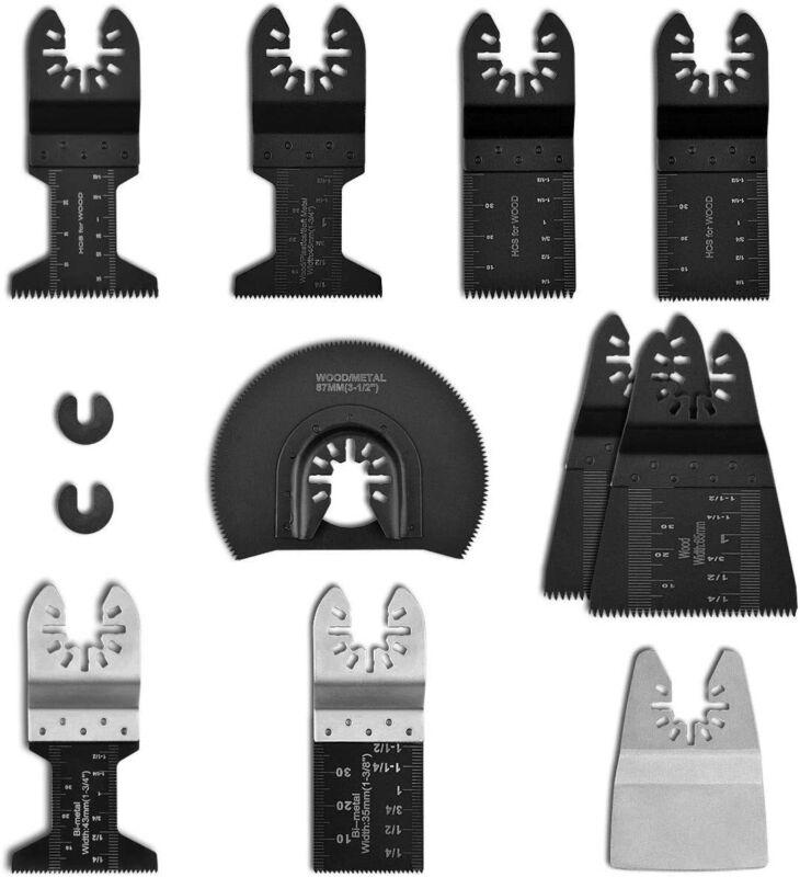 12 Piece Universal Oscillating Multi tool Saw Blades Carbon Steel Cutter DIY