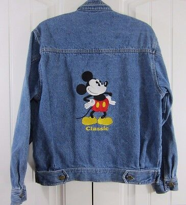 VTG Mickey & Co. Mickey Mouse Denim Jacket Large? Embroidered Cotton Jean Disney