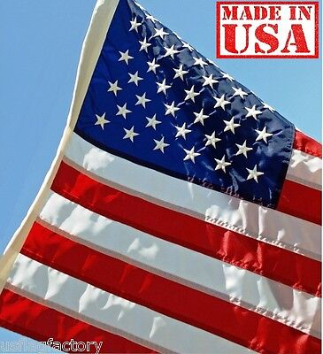 US Flag Factory 3x5' 3 x 5 Ft American Flag SolarMax Nylon O