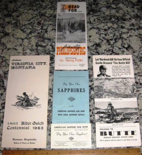 4 Mining Pubs Butte Phillipsburg Alder Gulch American Sapphire Gem Mine Montana