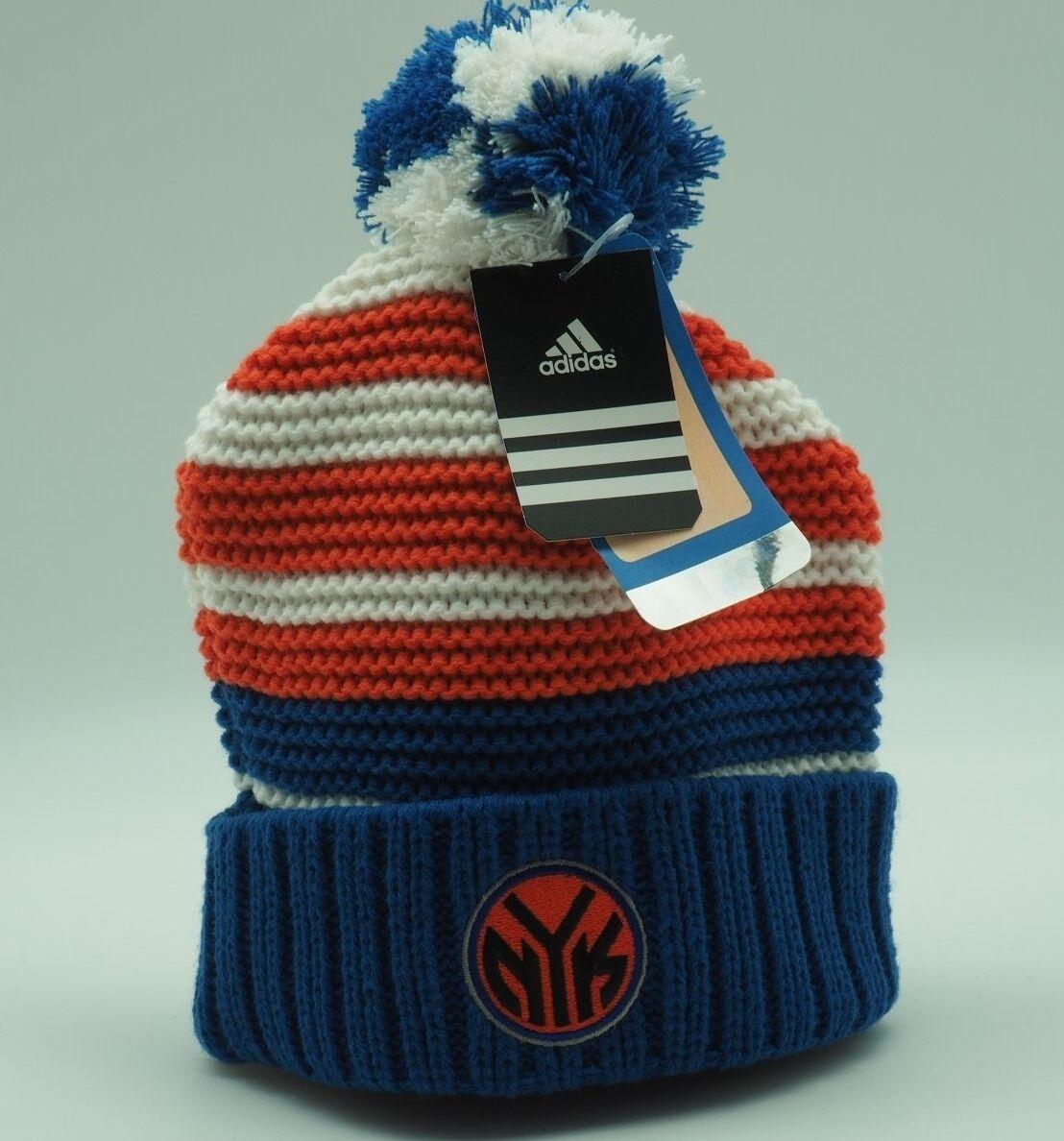 59b2d1b63 Details about New York Knicks Youth Girls Adidas NBA Knit Cuffed Pom Knit  Hat Girls 7-16