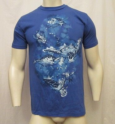 Shirt Woot Sea Turtles Frenzy Crew Neck T Shirt Size Med Blue Vic Thor1