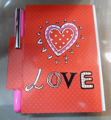 Valentine Gift Winston Cane Mini Memo Note Pad With Pen Valentine Love Design