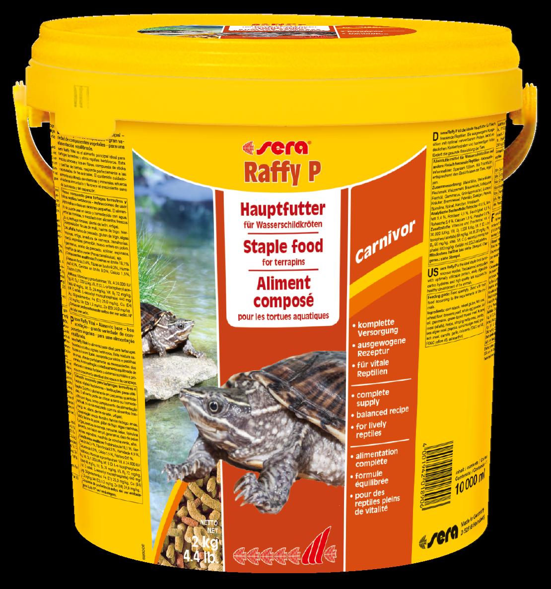 Wasserschildkrötenfutter Sera Raffy P 10 l 10000 ml Reptilien Echsen 24Std.Vers.