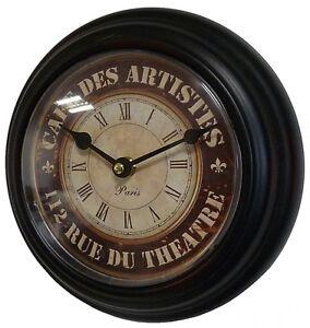 Style ancienne petite pendule horloge de gare cuisine - Horloge murale de gare ...