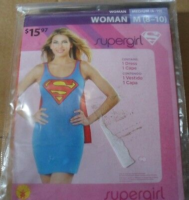 Superwoman Adult Costume (Supergirl/superwoman sexy Adult womens Halloween  Costume dress Medium 8-10)