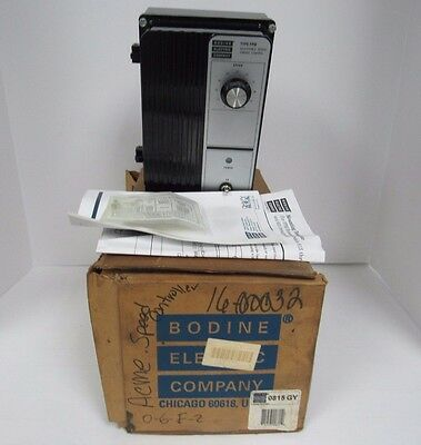 BODINE ELECTRIC COMPANY 815-ADJUSTABLE-SPEED-TORQUE-CONTROL-DC-MOTOR-CONTROL