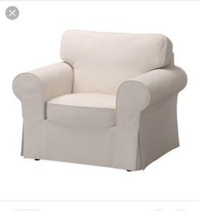Housse blanche - fauteuil Ektorp Ikea