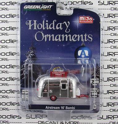 GREENLIGHT 1:64 M&J MiJo Toys AIRSTREAM 16' BAMBI Camper Christmas Ornament