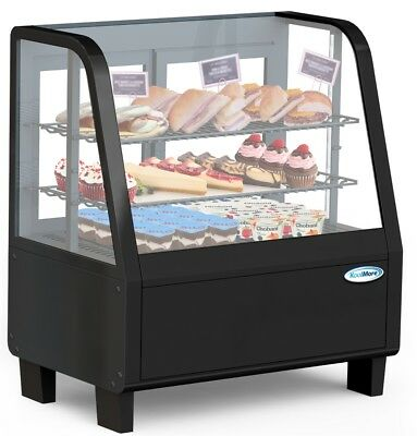 Countertop Refrigerator Merchandiser Display Case With Led Lighting - 3.6 Cu. Ft