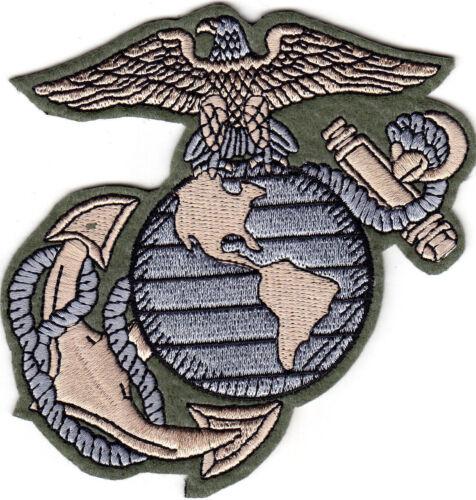 "4"" US Marine Corps Logo Iron On Patch Marines USMC Military Motto Semper Fi"