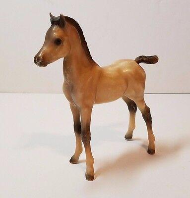 """Breyer Horse Proud Arabian Foal Brown Black Hair Baby Model Plastic 6"""" Toy"""