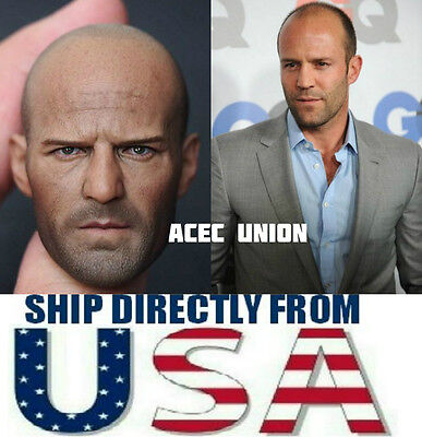 1 6 Jason Statham Head Sculpt Expendables For Hot Toys Muscular   U S A  Seller