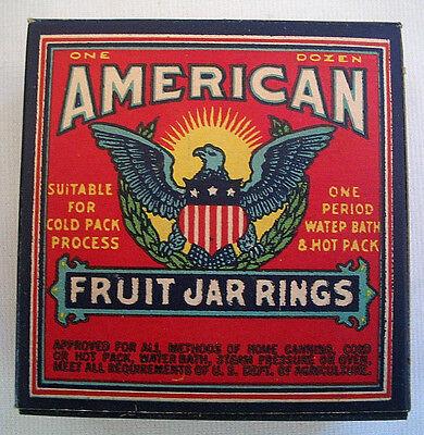 Vintage 1940's Antique Patriotic Advertising American Fruit Jar Rings WWII MINT!