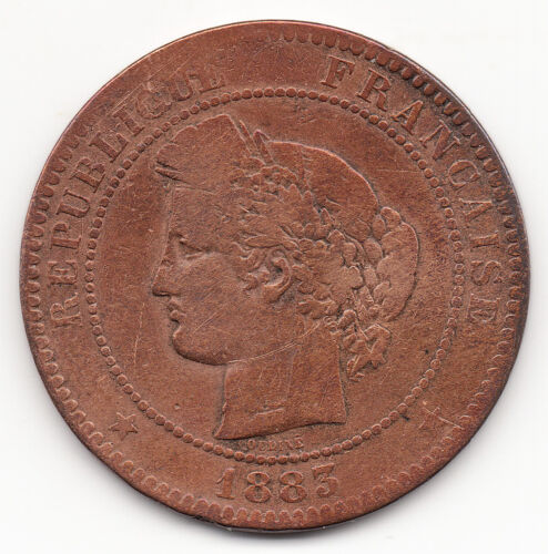 1883 A France 10 Centimes Coin