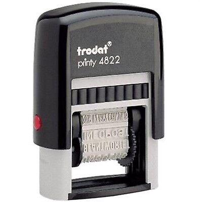 4822 Multi-Word Band Self-Inking Stamper 12 Messages - Self Inking Stamper