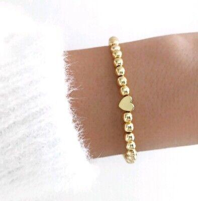Herz Armband ♥ Infinity filigran Kugel Perlen Armband Partner Geschenk Liebe