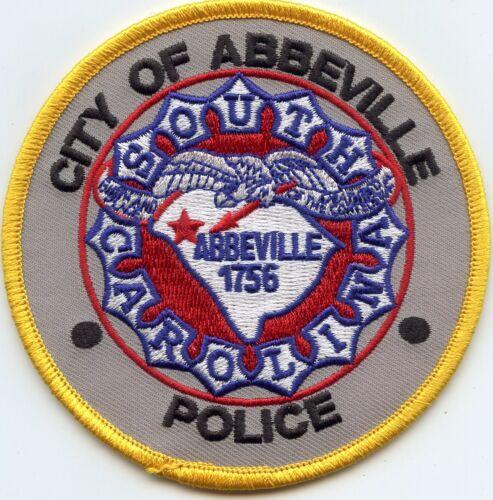 ABBEVILLE SOUTH CAROLINA SC round POLICE PATCH