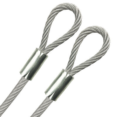 Looped End 316 Vinyl Coated Galvanized Steel Cable 7x19 18 Core 1ft - 70ft