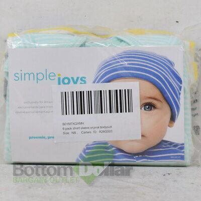 Simple Joys By Carter's Baby Boy's 6Pk Short-Sleeve Bodysuit