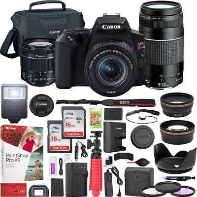 Canon EOS Rebel SL3 DSLR Camera w/ 18-55mm IS II + 75-300mm III Double Zoom Kit