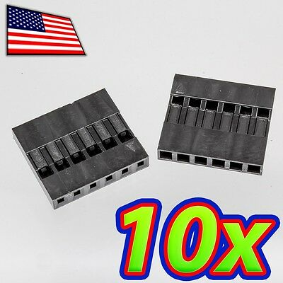 10x Dupont Wire Jumper Pin Header Connector Housing - 1x6 - Male Female