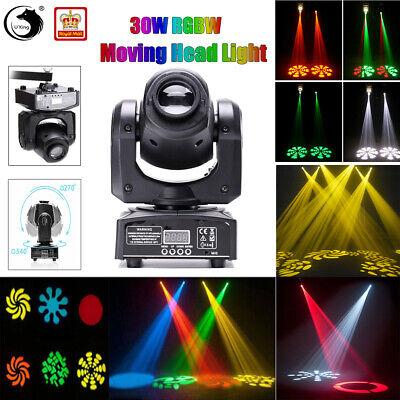 U`king 30W RGBW Moving Head Gobo Spot Stage Lighting DMX DJ Disco Club Party KTV
