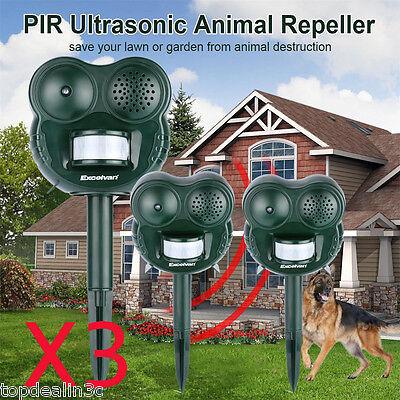 3X Ultraschall Katzenschreck Hundeschreck Katzenvertreiber Tierabwehr Vertreiber