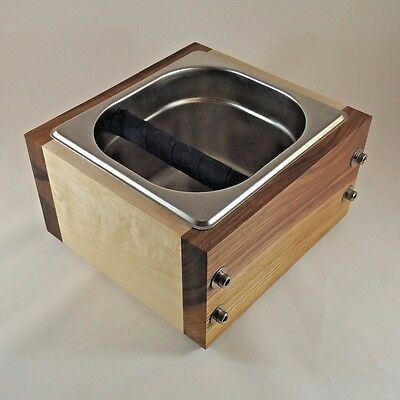 Rsthaus Knock Box - Walnutmaple And Stainless - Handmade For Espresso