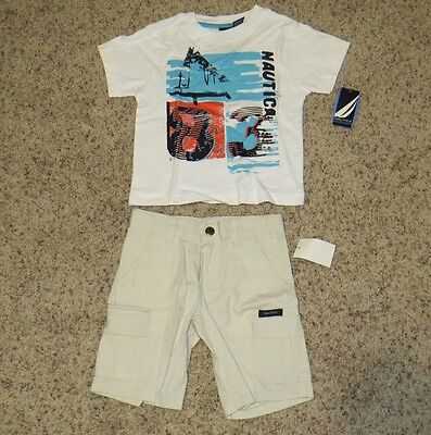 Nautica Toddler Boys 2 Piece Outfit - Size 2T - NWT