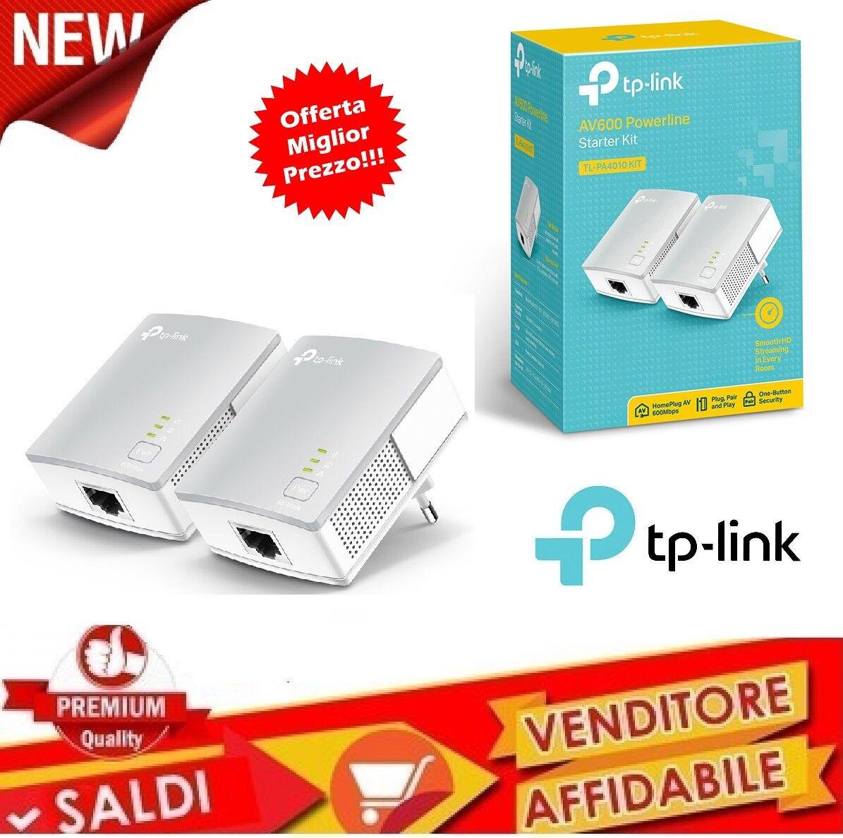 ADATTATORE DI RETE 2 X POWERLINE TP-LINK STARTER KIT TL-PA4010KIT 600MBPS V 2.0