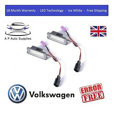 VW LED Canbus Licence Number Plate Light For GTI Golf MK4 MK5 MK6 MK7 Scirocco