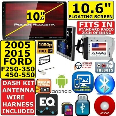 """05-15 FORD F250/350/450/550 10.6"""" CD/DVD USB SD BLUETOOTH CAR STEREO PACKAGE"""
