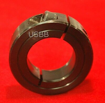"1"" SINGLE SPLIT SHAFT COLLAR, ONE PIECE 1"" CLAMP STOP COLLAR Black Oxide (2U48)"