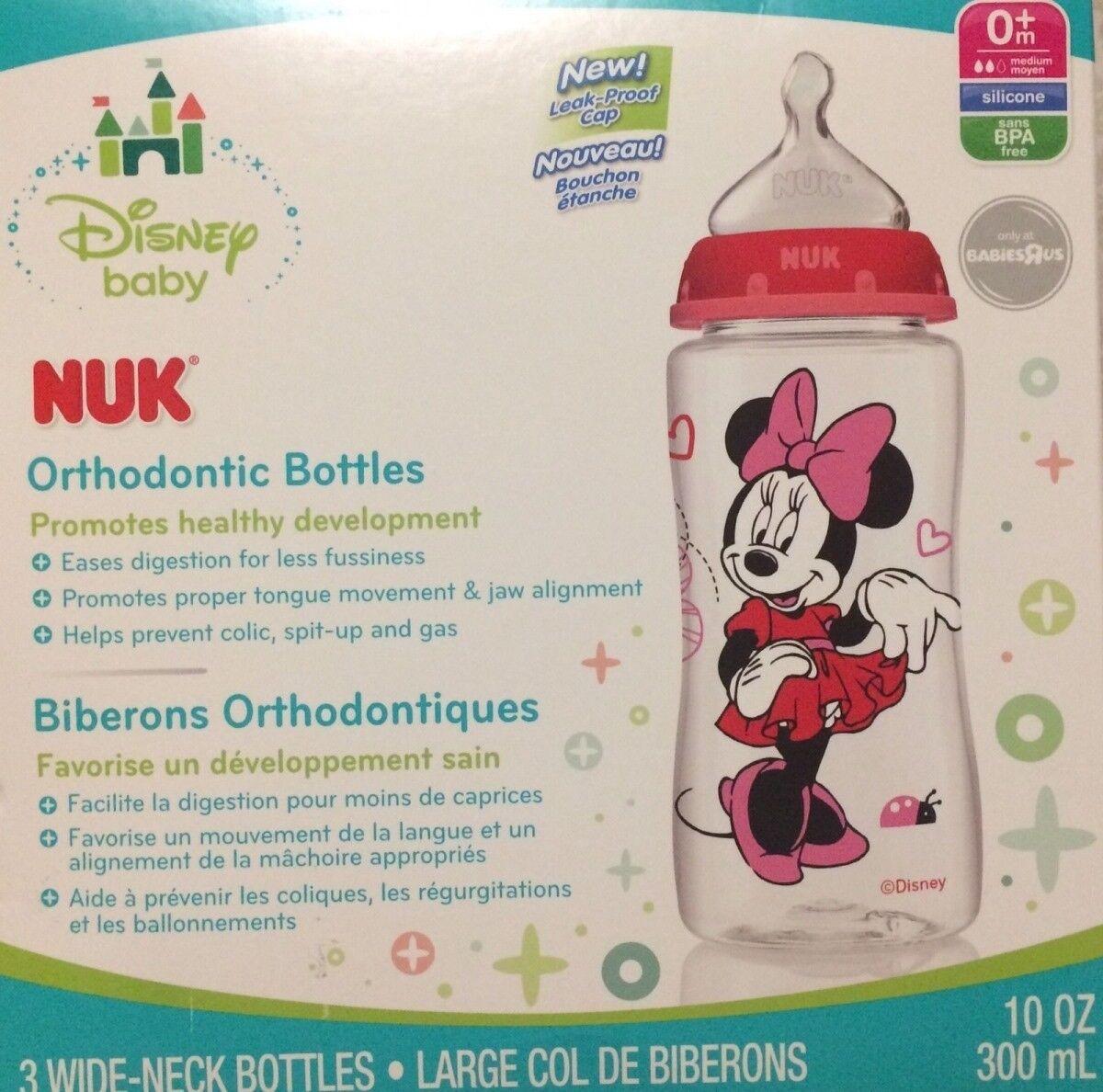 Arnold Mast 10 oz NUK Disney Minnie Mouse Orthodontic Bottle