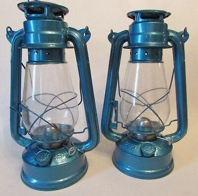 NEW LOT OF 2 HURRICANE OIL KEROSENE LANTERN LAMP VINTAGE STYLE WICK METAL