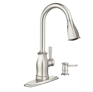 Moen Hensley Reflex 87024msrs Pulldown Kitchen Faucet Stainless Steel