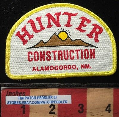ALAMOGORDO NEW MEXICO PATCH ~ HUNTER CONSTRUCTION SUN & MOUNTAINS 62K3