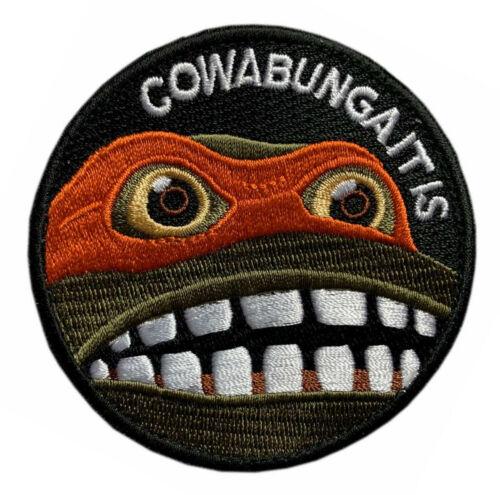 "Cowabunga It Is Meme Turtle patch [""Velcro Brand"" Fastener - 3.0 inch -T4]"